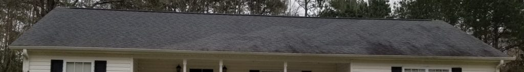 Example of Organic Matter Stains on a Roof